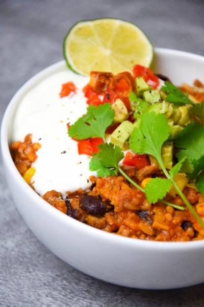 Jednogarnkowe chili con carne z ryżem