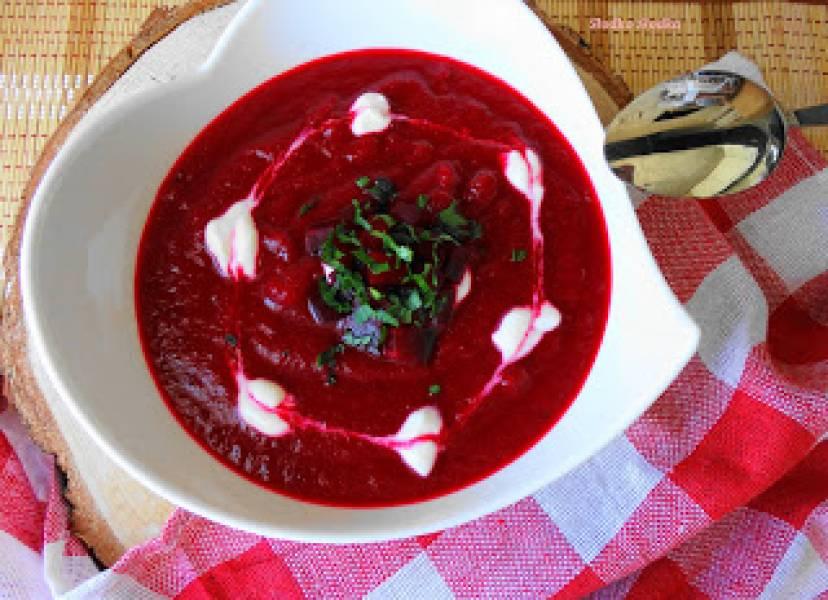 Zupa Krem z Pieczonych Buraków.