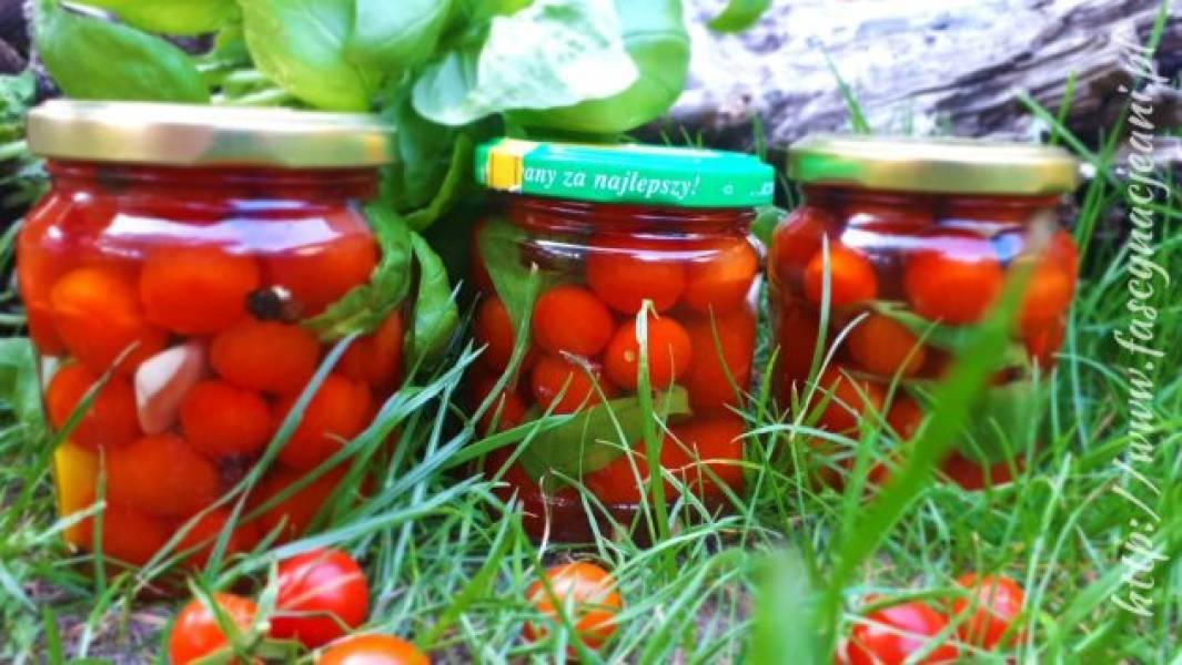 Pomidorki koktajlowe marynowane