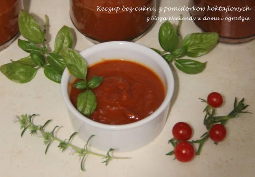 Keczup z pomidorków koktajlowych, bez cukru