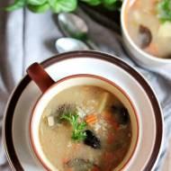 Krupnik z grzybami - idealna zupa na początek jesieni