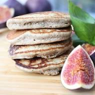 Pancakes bazyliowo-figowe, bez glutenu, mleka i cukru