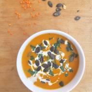 Krem z dyni i soczewicy / Creamy Pumpkin Lentil Soup