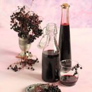 Sok i dżem z owoców czarnego bzu