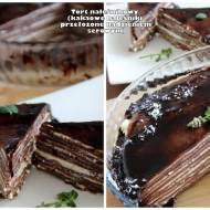 Tort naleśnikowy (kakaowe naleśniki przełożone nadzieniem serowym)