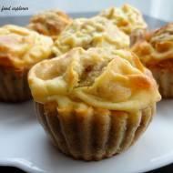 Cynamonowe fit muffinki z waniliowym twarożkiem