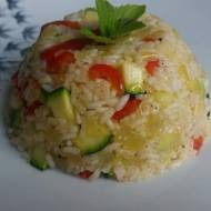 Ryż z cukinią i papryką