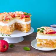 Szwedzki tort jabłeczny