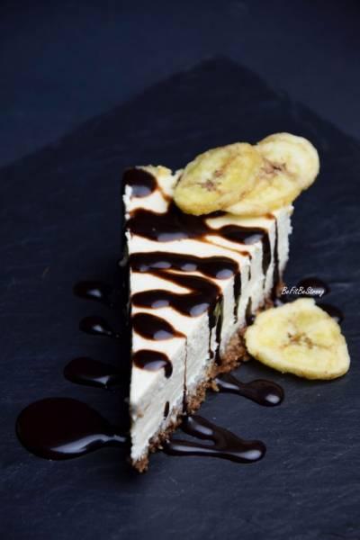 Kremowy sernik bananowy z ricotty bez cukru