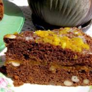 łatwe ciasto piernikowe z pomarańczami, nerkowcami,dżemem...