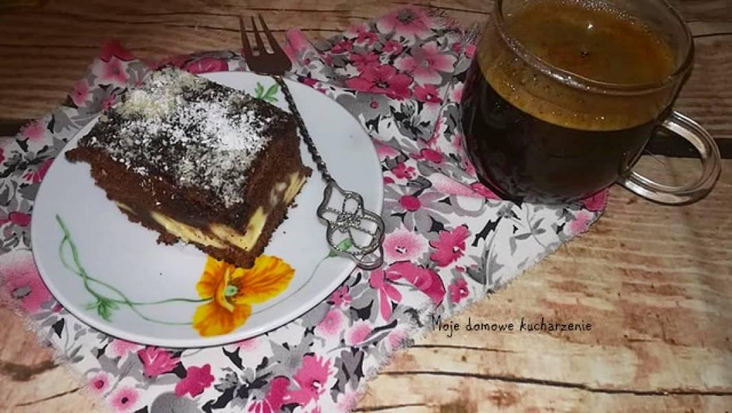 Błyskawiczne ciasto serowo czekoladowe