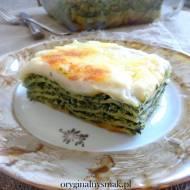 Lazania ze szpinakiem, ricottą i gorgonzolą (lasagne agli spinaci, ricotta e gorgonzola)
