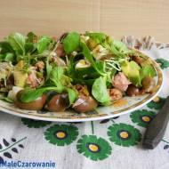 Sałatka z roszponki, awokado i tuńczyka