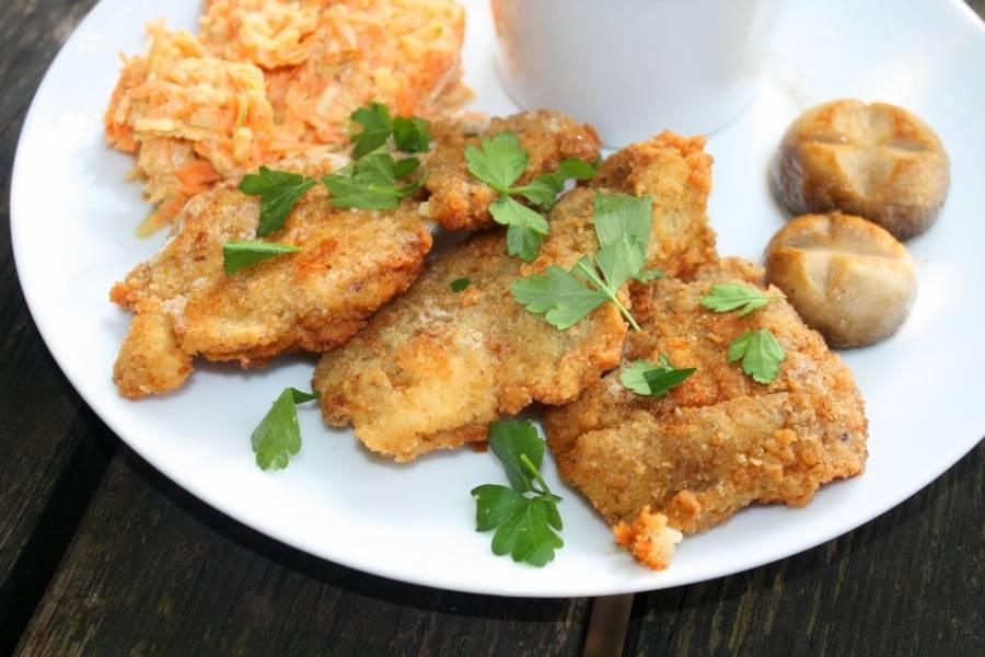 Ryba w majonezowo , koperkowej , chrupkiej panierce