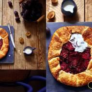 Rystykalna tarta z domowego ciasta àla francuskiego- Galette ze śliwkami
