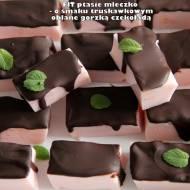 Fit ptasie mleczko - o smaku truskawkowym oblane gorzką czekoladą