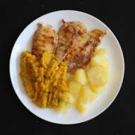 Grillowany kurczak z musem dyniowo-porowym