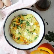 Omlet z dynią i fetą