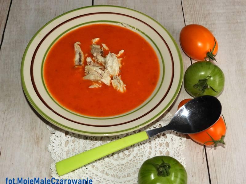 Zupa pomidorowa z jabłkami