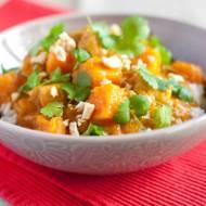 Curry z dyni i kurczaka w mleczku kokosowym