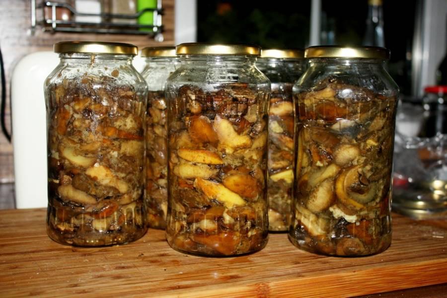 Smażone grzyby do słoików , przetwory
