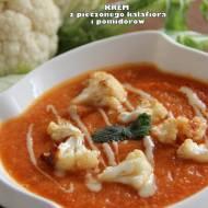 Krem z pieczonego kalafiora i pomidorów