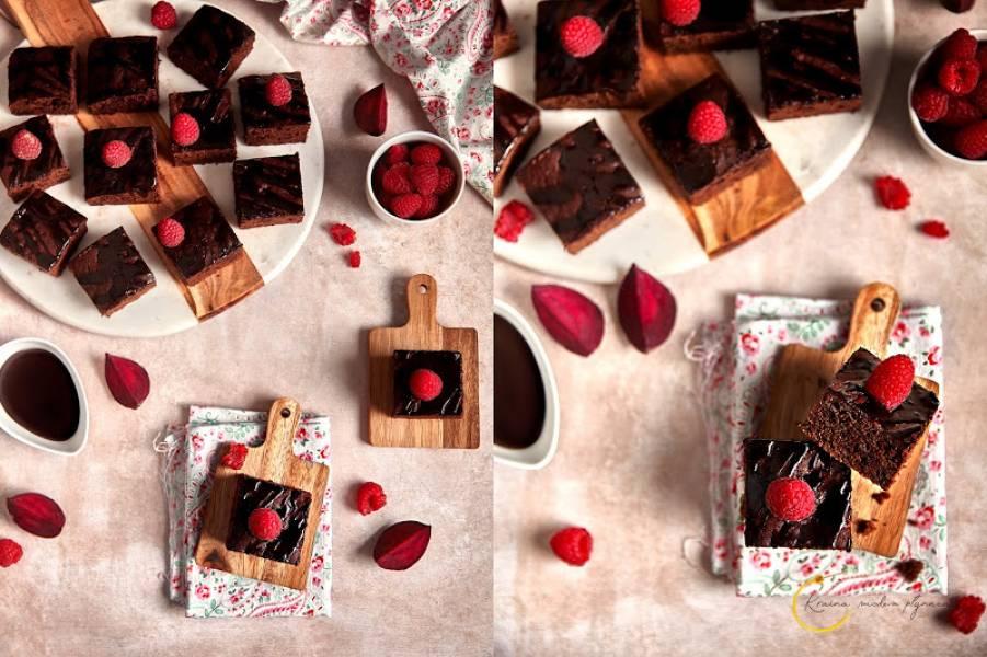 Czekoladowe ciasto z buraczkami i cynamonową nutą