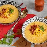 Zupa kukurydziana z wędzonym boczkiem