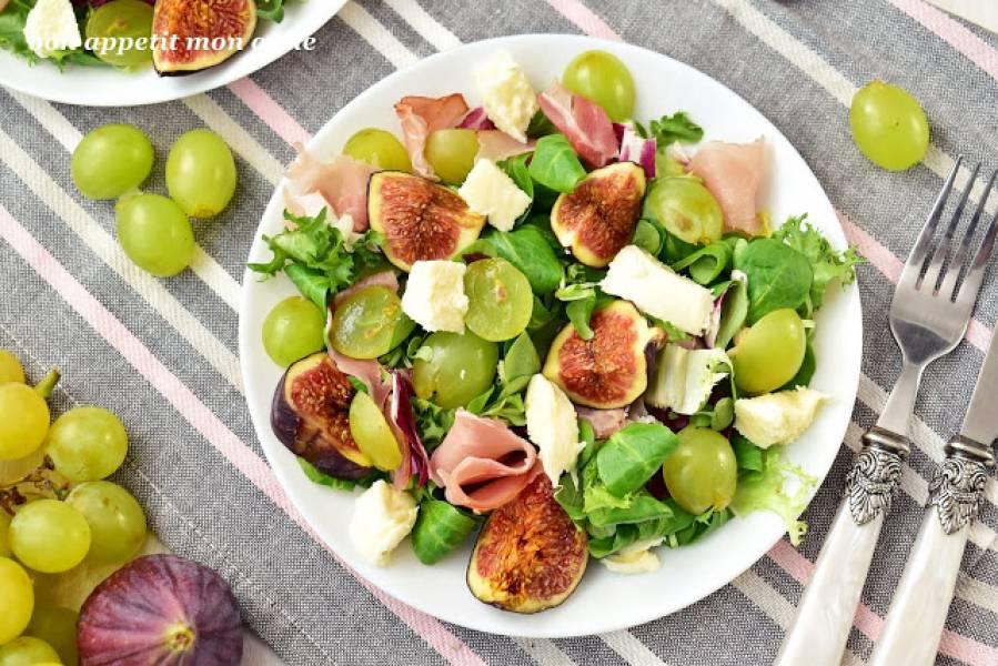 Sałatka z figami i winogronami