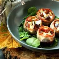 Figi zapiekane z boczkiem i serem pleśniowym