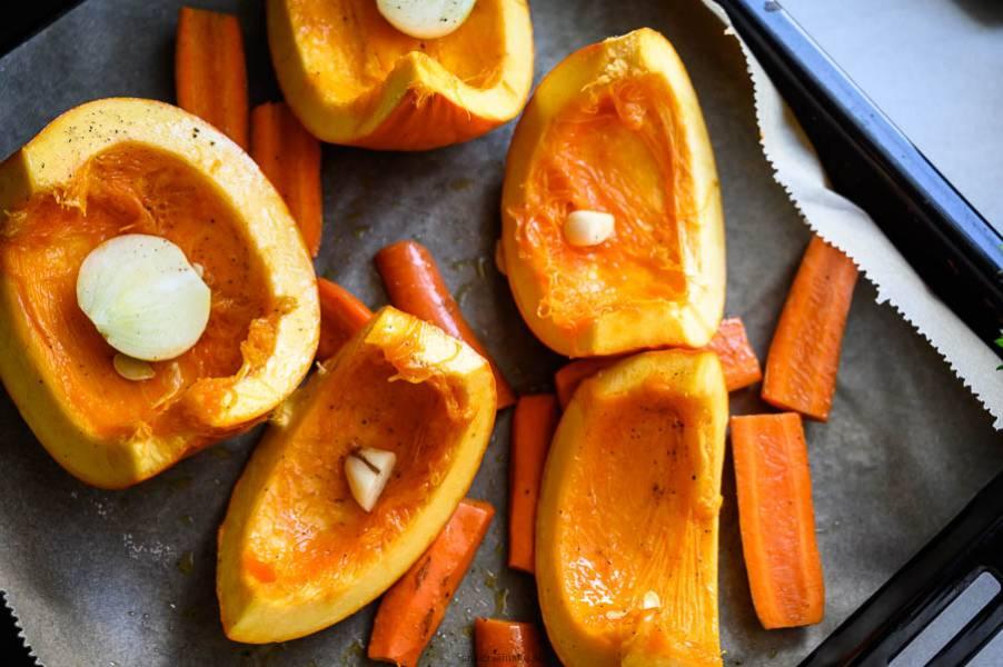 Krem z dyni i marchewki