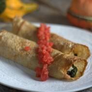 Naleśniki ze szpinakiem, pomidorami i mozzarellą