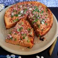 Placek pomidorowo - fasolowy