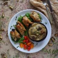 Roladki z indyka w sosie grzybowym