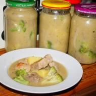 Szynka z brokułami , danie do słoika na wyjazdy