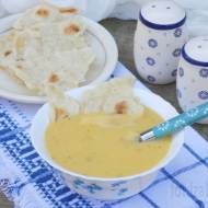 Zupa krem z ziemniaków z serkiem topionym.