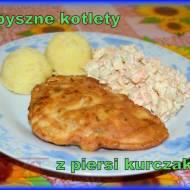 Kotlety drobiowe z serem i majonezem