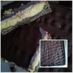 ciasto makowe z kremem i czekoladowa glazurą