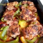 Zapiekanka z kurczaka po hiszpańsku