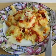 Kluski kładzione smażone z panchettą i parmezanem