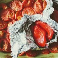 Krem z pieczonych pomidorów i papryki