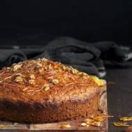 Ciasto dyniowe z karmelizowanym słonecznikiem