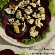 Carpaccio z buraka z serem pleśniowym i orzechami włoskimi