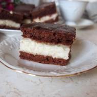 Błyskawiczne ciasto kokosowo czekoladowe