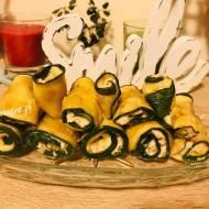 Roladki z cukinii z nadzieniem serowo-orzechowym (idealne na imprezę)
