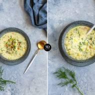 Zupa koperkowa z kaszą pęczak