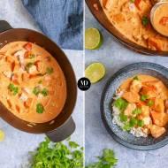 Curry z dynią i łososiem