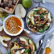 Jesienna sałatka z pieczonym topinamburem i orzechowym vinegretem