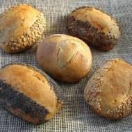 Bułki pszenne z reszek odrzucanego zakwasu