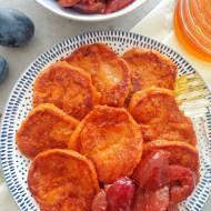 Placuszki ze słodkich ziemniaków (Pancake di patate dolci)